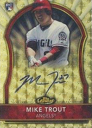 2011 Topps Finest Superfractor Autograph Mike Trout
