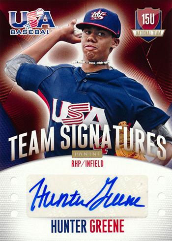 2014 Panini USA Baseball 15U Team Signatures Hunter Greene