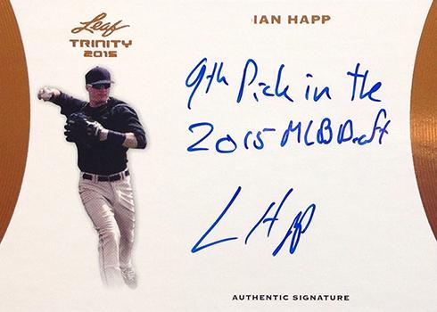 2015 Leaf Trinity Autographs Ian Happ