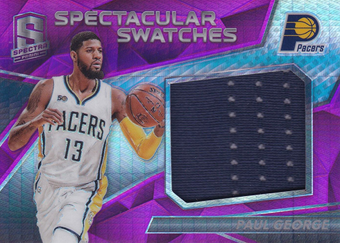 2016-17 Panini Spectra Basketball SPectacular Swatches Pink Paul George