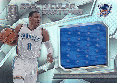 2016-17 Panini Spectra Basketball SPectacular Swatches Russell Westbrook