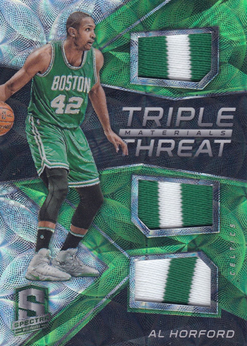 2016-17 Panini Spectra Basketball Tripe Threat Neon Green Al Horford