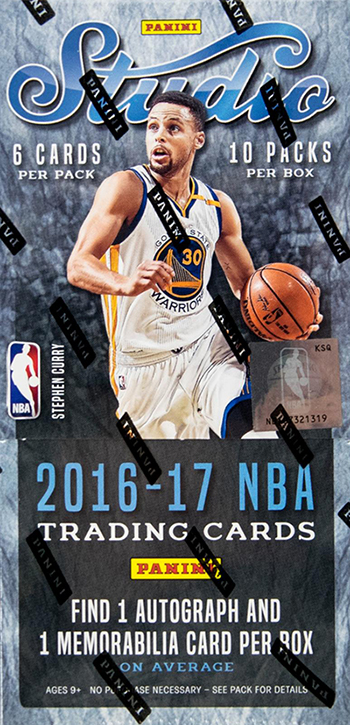 2016-17 Panini Studio Basketball Hobby Box