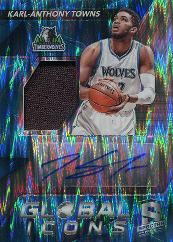 2016-17 Spectra Basketball Global Icons Blue Karl-Anthony Towns
