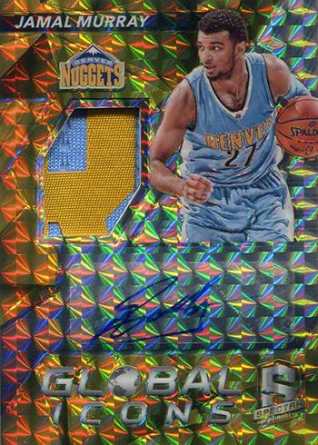 2016-17 Spectra Basketball Global Icons Gold Jamal Murray