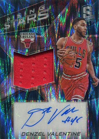 2016-17 Spectra Basketball Rising Stars Neon Blue Denzel Valentine
