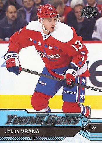 2016-17 Upper Deck Hockey 520 Jakub Vrana YG