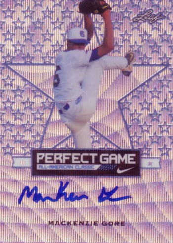 2016 Leaf Metal Perfect Game MacKenzie Gore Autograph Purple Star