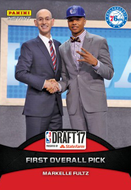 2017-18 Panini Instant NBA Draft 16 Markelle Fultz