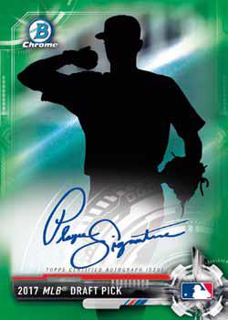 2017 Bowman Draft Baseball Chrome Draft Pick Autograph Green