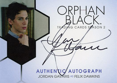 2017 Cryptozoic Orphan Black Season 2 Autographs Jordan Gavaris as Felix