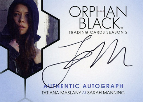 2017 Cryptozoic Orphan Black Season 2 Autographs Tatiana Maslany as Sarah Manning