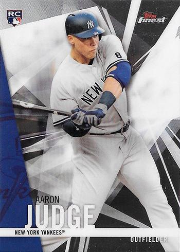 2017 Finest Aaron Judge Rookie Card