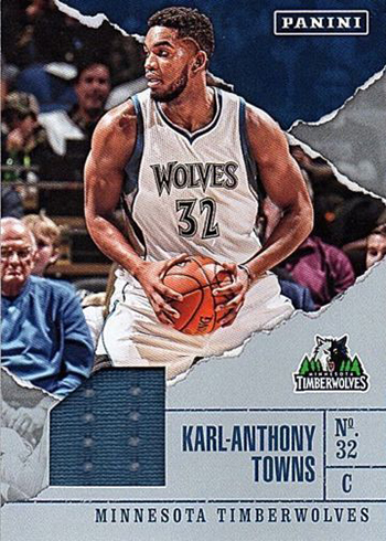 2017 Panini Fathers Day Basketball Memorabilia Karl-Anthony Towns