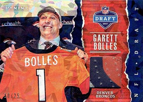 2017 Panini Fathers Day Football NFL Draft Memorabilia Garrett Bolles