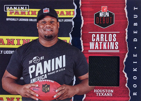 2017 Panini Fathers Day NFLPA Rookie Debut Carlos Watkins