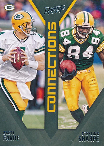 2017 Panini Prestige Football Connections Brett Favre Sterling Sharpe