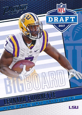 2017 Panini Prestige Football Draft Day big Board Leonard Fournette