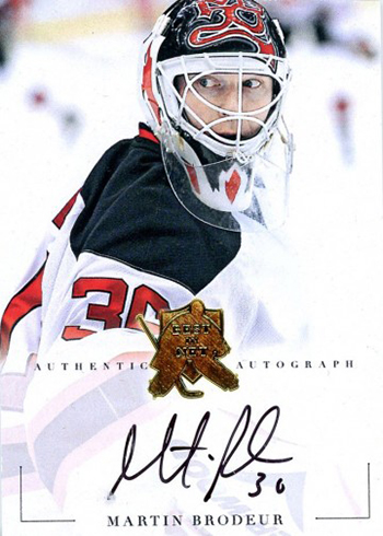 2017 Presidents Choice Best in New Martin Brodeur Autograph