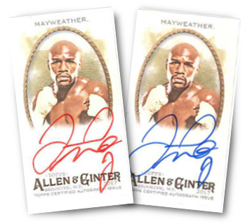 2017 Topps Allen and Ginter Floyd Mayweather Autographs