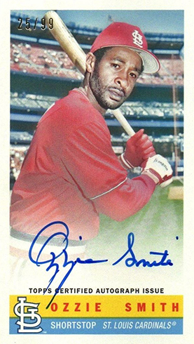 2017 Topps Archives Baseball Bazooka Autographs Ozzie Smith