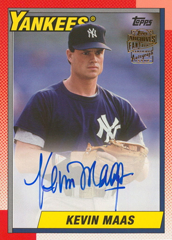2017 Topps Archives Baseball Fan Favorites Autographs Kevin Maas