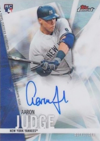 2017 Topps Finest Baseball Aaron Judge Autograph