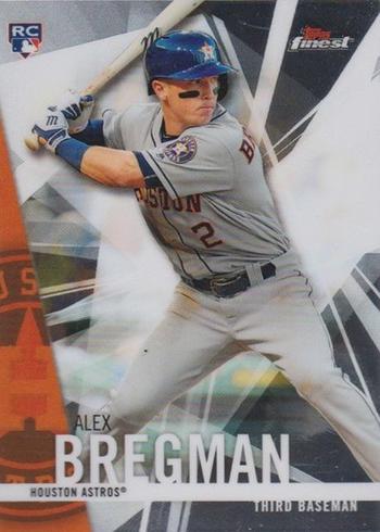 2017 Topps Finest Baseball Base Alex Bregman RC
