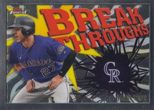 2017 Topps Finest Baseball Break Throughs Trevor Story