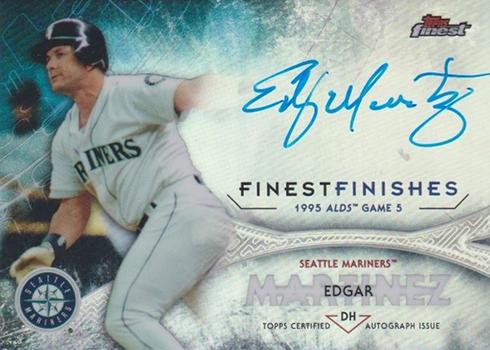 2017 Topps Finest Baseball Finest Finishes Autographs Edgar Martinez