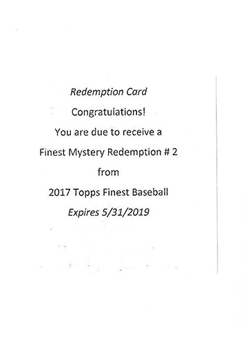 2017 Topps Finest Mystery Redemption 3