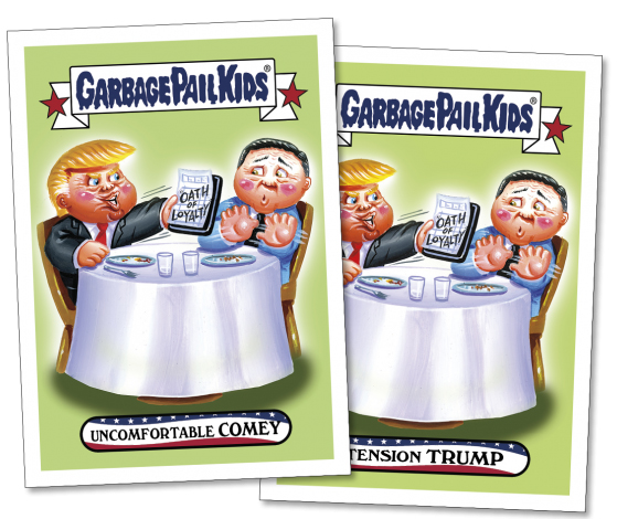 2017 Topps GPK Comedy of Comey 1