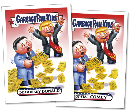 2017 Topps GPK Comedy of Comey 2