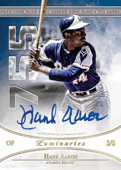 2017 Topps Luminaries Baseball Home Run Kings