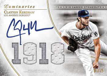 2017 Topps Luminaries Baseball Masters of the Mound Autograph Relic