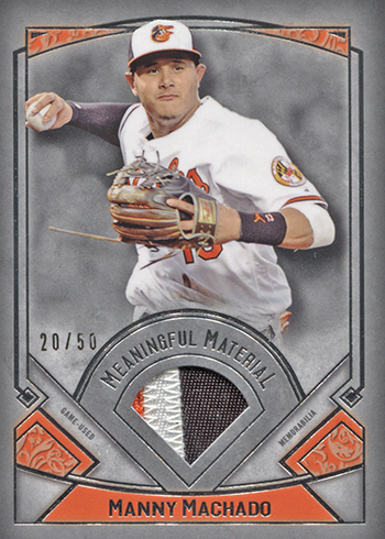 2017 Topps Museum Collection Baseball Meaningful Material Manny Machado