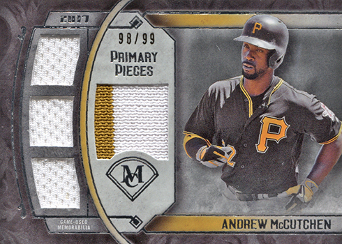 2017 Topps Museum Collection Baseball Primary Pieces Quad Andrew McCutchen
