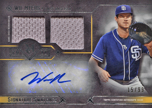 2017 Topps Museum Collection Baseball Signature Swatches Dual Wil Myers