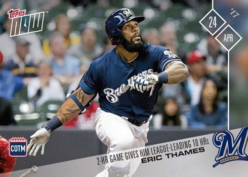 2017 Topps Now Card of the Month M-APR Eric Thames