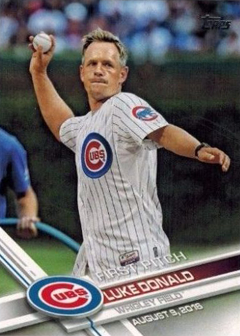 2017 Topps Series 2 First Pitch Luke Donald