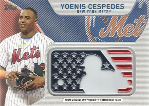 2017 Topps Series 2 Indepence Day Logo Patch Yoenis Cespedes