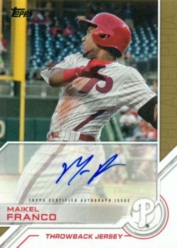 2017 Topps Series 2 Topps Salute Autographs Maikel Franco