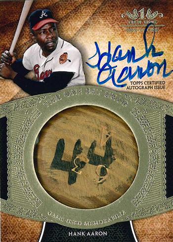 2017 Topps Tier One Baseball Autographed Bat Knob Hank Aaron