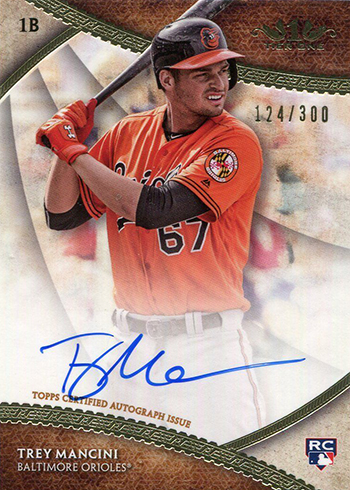 2017 Topps Tier One Baseball Break Out Autographs Trey Mancini