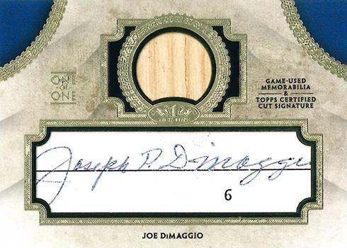 2017 Topps Tier One Baseball Cut Signature Relics Joe DiMaggio