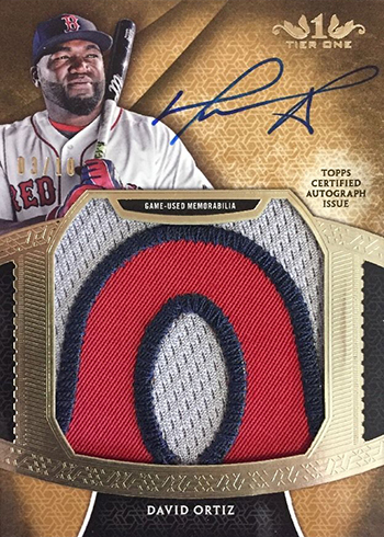2017 Topps Tier One Baseball Prodigious Patches Autographs David Ortiz