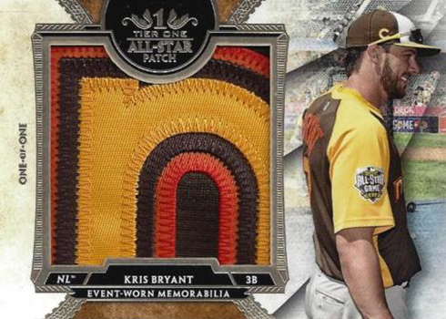 2017 Topps Tier One Baseball Tier One All-Star Patch