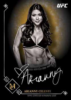 2017 Topps UFC Museum Collection Museum Collection Autograph Gold