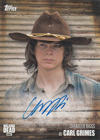 2017 Topps Walking Dead Season 6 Chandler Riggs Autograph