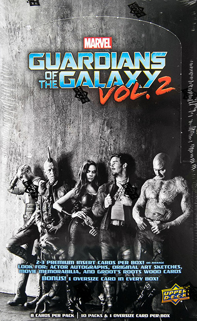 2017 Upper Deck Guardians of the Galaxy Vol 2 Hobby Box